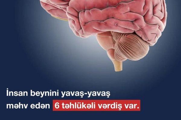 İnsan beynini yavaş-yavaş məhv edən 6 təhlükəli vərdiş var.